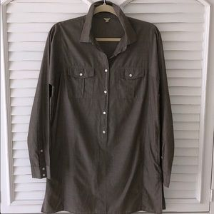 J.Crew Button Front Popover Tunic Coverup